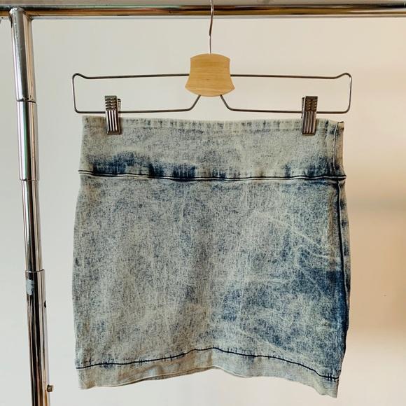 BDG Dresses & Skirts - BDG Distresses Denim Mini Skirt
